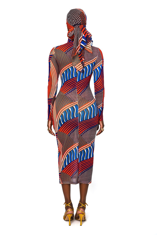Enora Mesh Dress And Scarf
