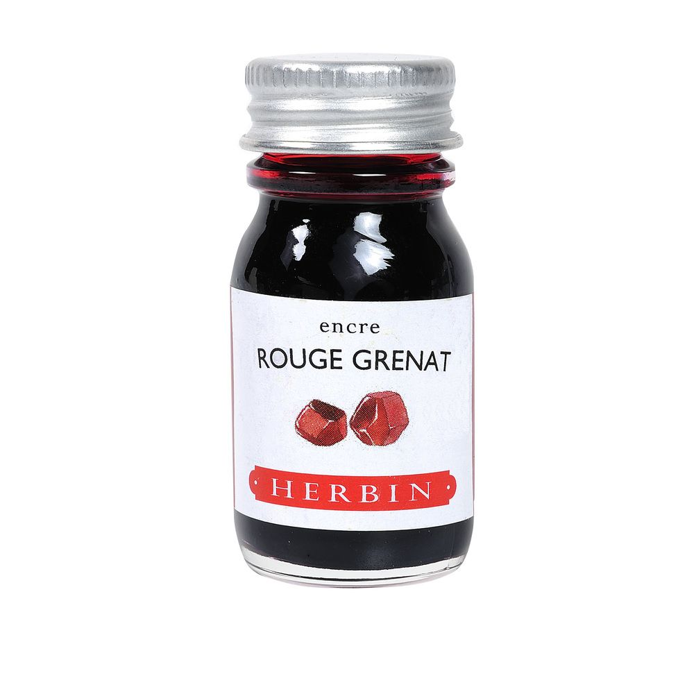 Herbin Ink Bottle (Rouge Grenat - 10ML) 11529T