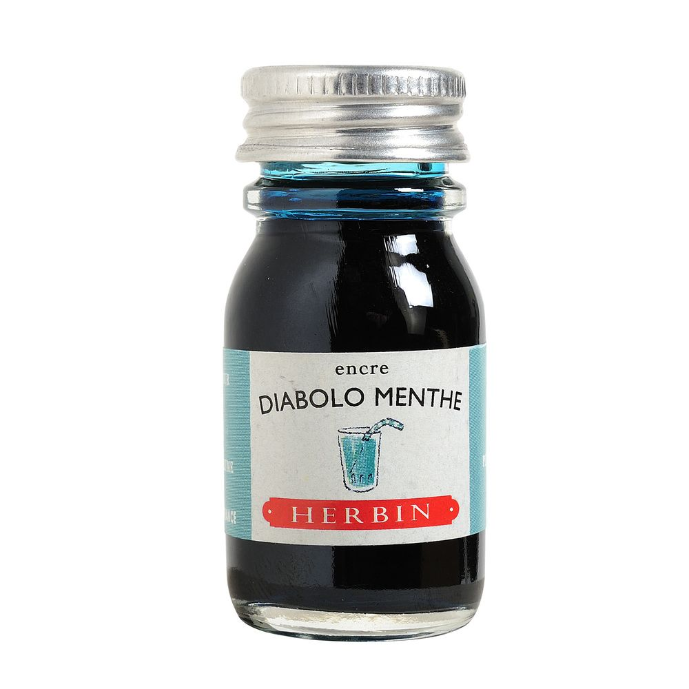 Herbin Ink Bottle (Diabolo Menthe - 10ML) 11533T
