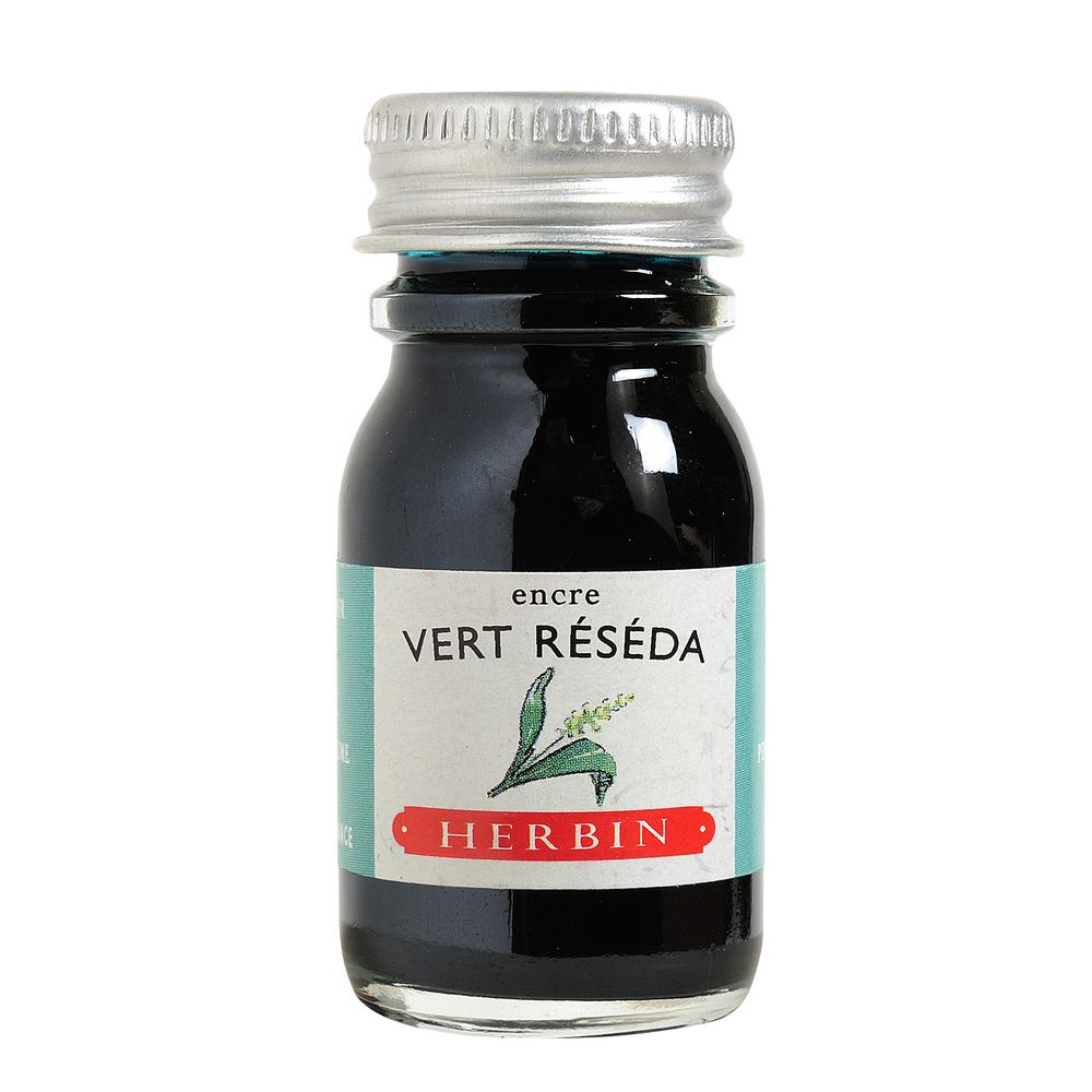 Herbin Ink Bottle (Vert Reseda - 10ML) 11538T