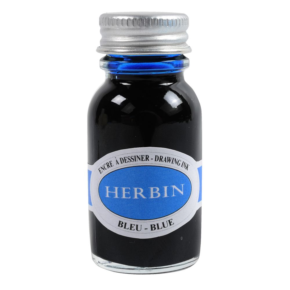 Herbin Drawing Ink Bottle (Blue - 15ML) 12613T