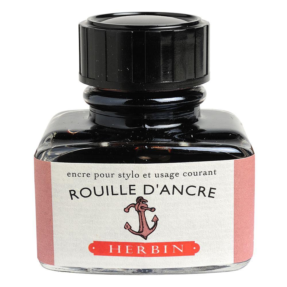 "Herbin ""D"" Ink Bottle (Rouille D'Ancre - 30ML) 13058T"