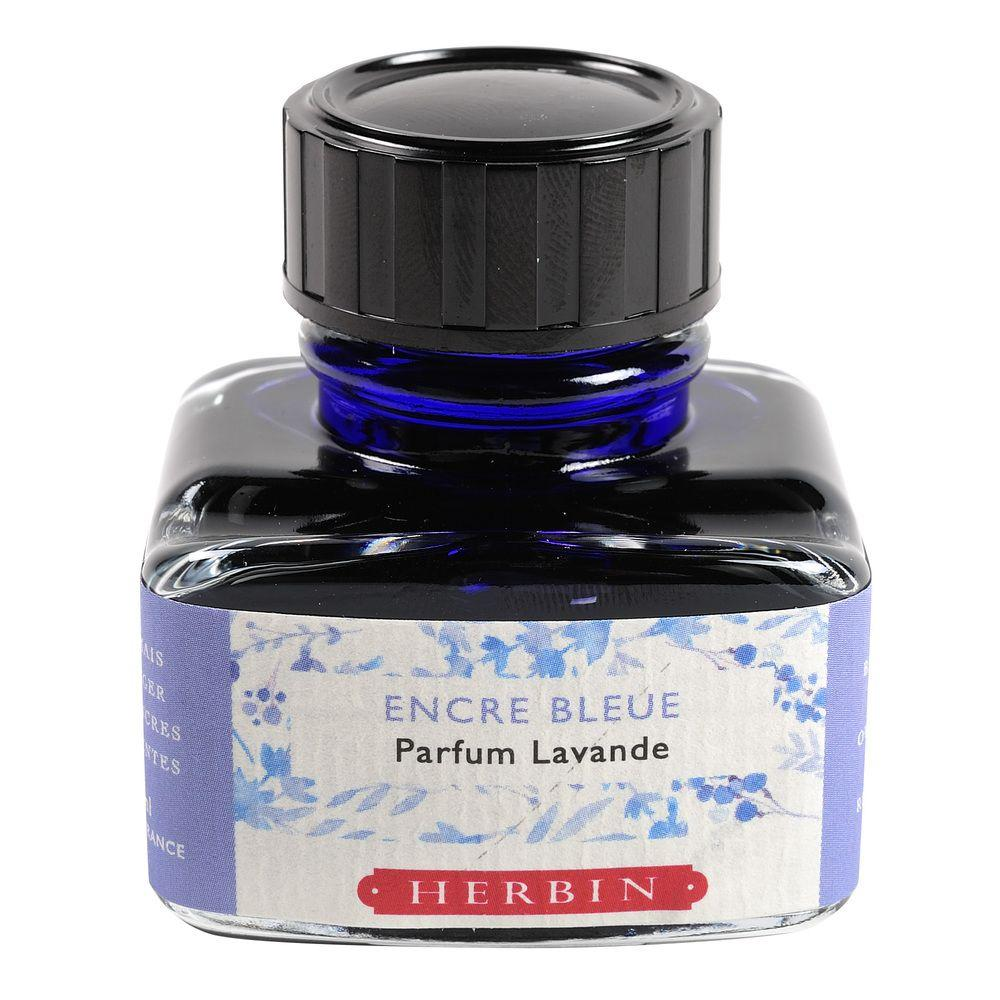 Herbin Perfumed Ink Bottle (Blue/Lavender - 30ML) 13710T