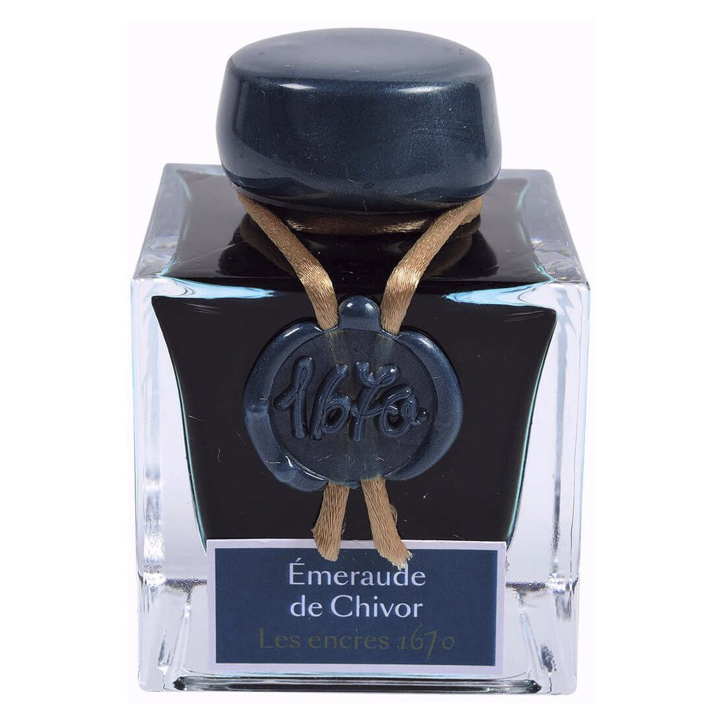 Jacques Herbin 1670 Ink Bottle (Emerald of Chivor - 50ML) 15035JT