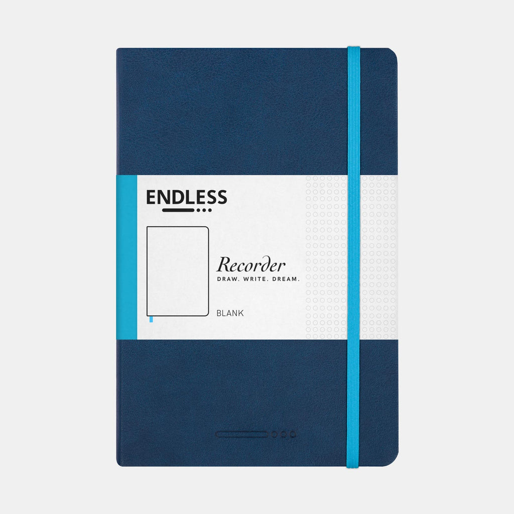 Endless Recorder Deep Ocean Notebook (Plain - A5) EWRDOB