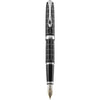 Diplomat Excellence A Plus Rhomb Guilloche Lapis Black 14K Gold Fountain Pen