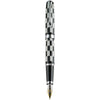 Diplomat Excellence A Plus Rome Black White 14K Gold Fountain Pen