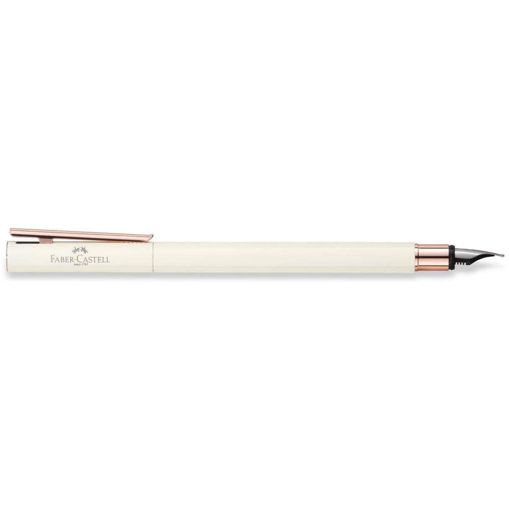 Faber-Castell Neo Slim Ivory Rose Gold Fountain Pen