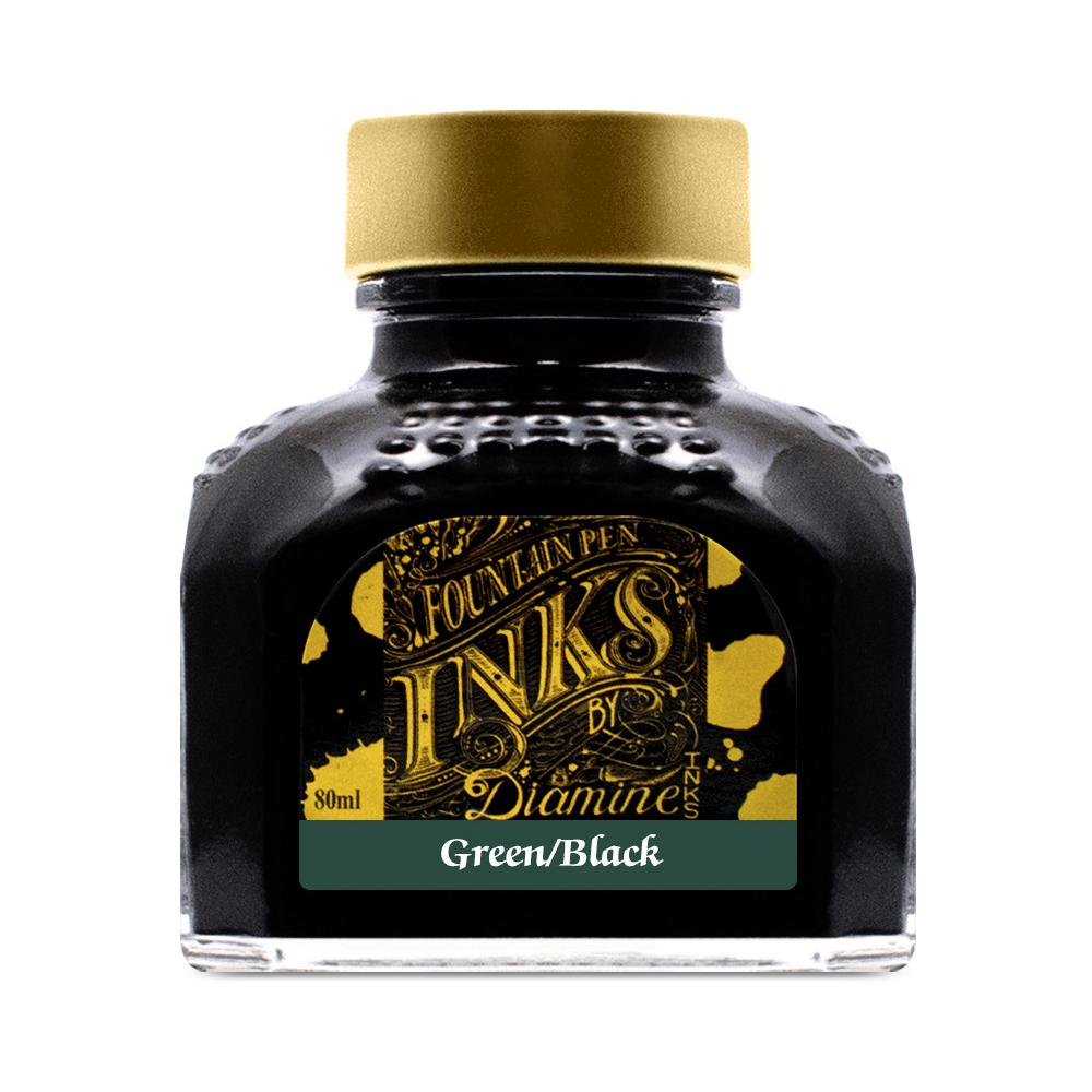 Diamine Ink Bottle (Green Black - 80ML) 827675