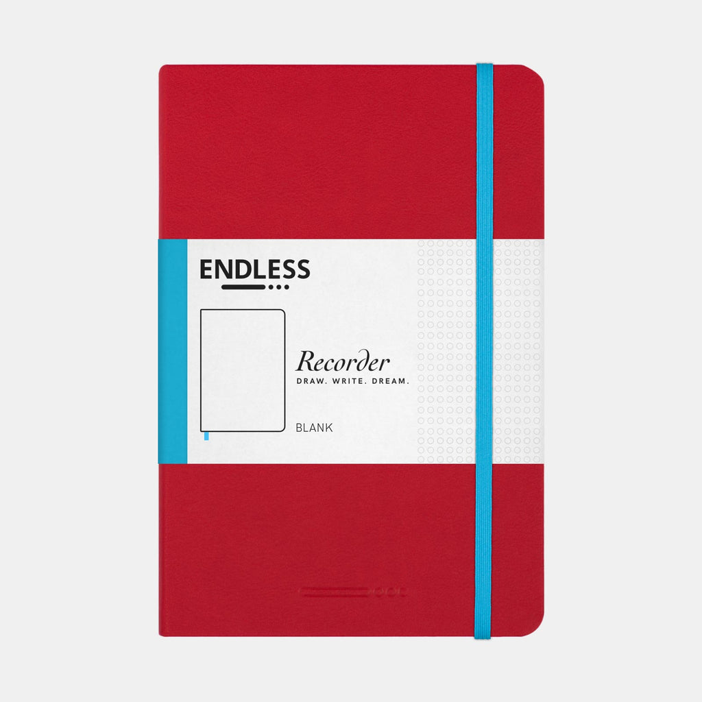 Endless Recorder Crimson Sky Notebook (Plain - A5) EWRCSB