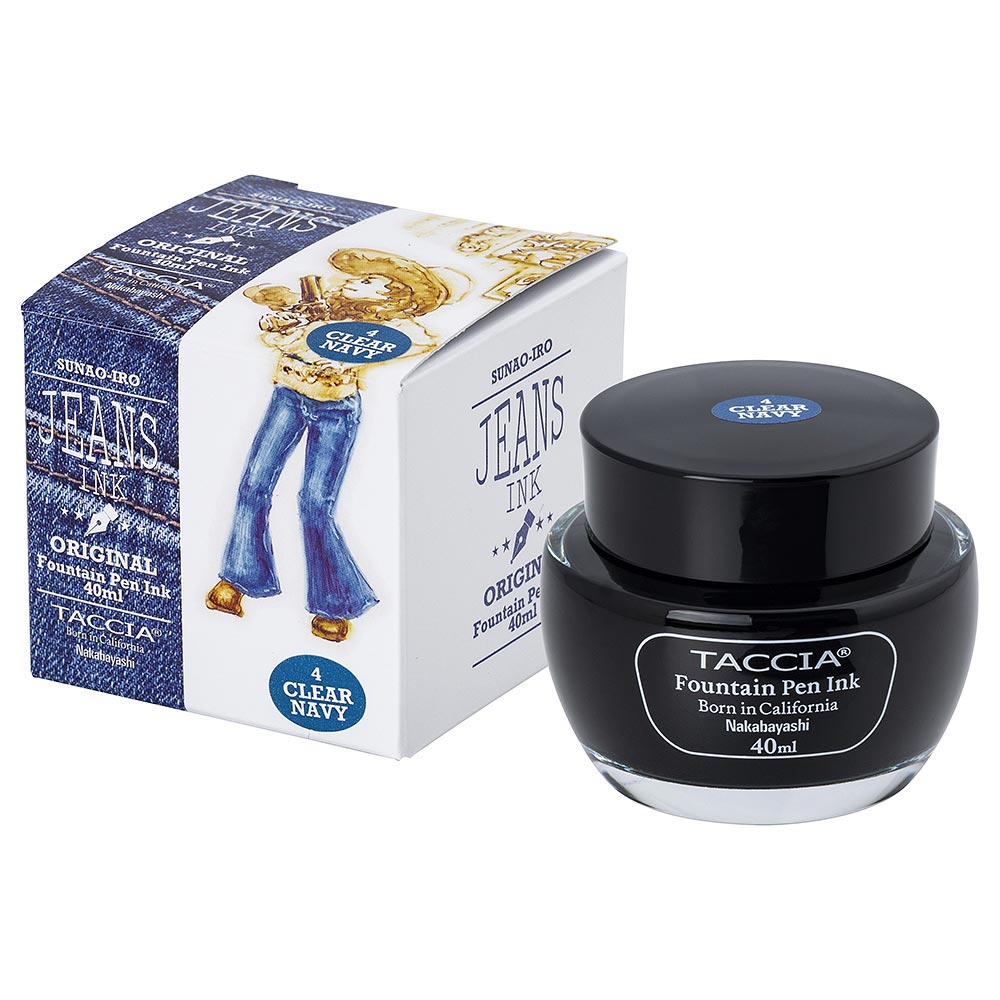 Taccia Jeans Ink Bottle (Clear Navy - 40ML) TFPI-WD401-4