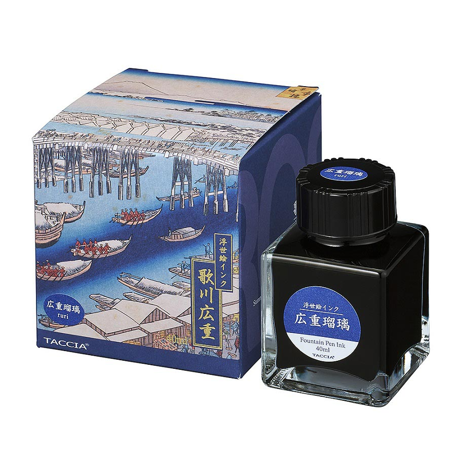 Taccia Ukiyo-e Ink Bottle (Ruri - 40ML) TFPI-WD42-10