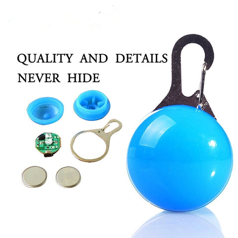 Pet Collar Pendant LED dog collar Night light