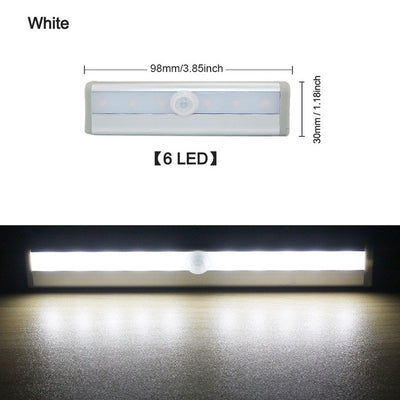 LED Motion Sensor Light Cupboard Wardrobe Bed Lamp LED Under Cabinet Night Light For Closet Stairs Kitchen