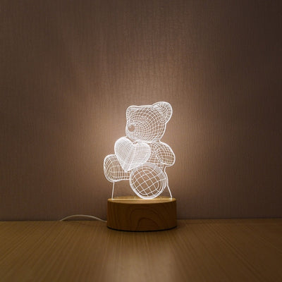 3D LED Lamp  For Home Decorative