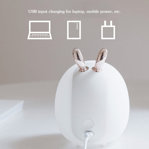 Lights Deer Rabbit LED Night Light Silicone Animal Cartoon Dimmable Lamp USB Rechargeable For Children Kids Baby Gift Bedside