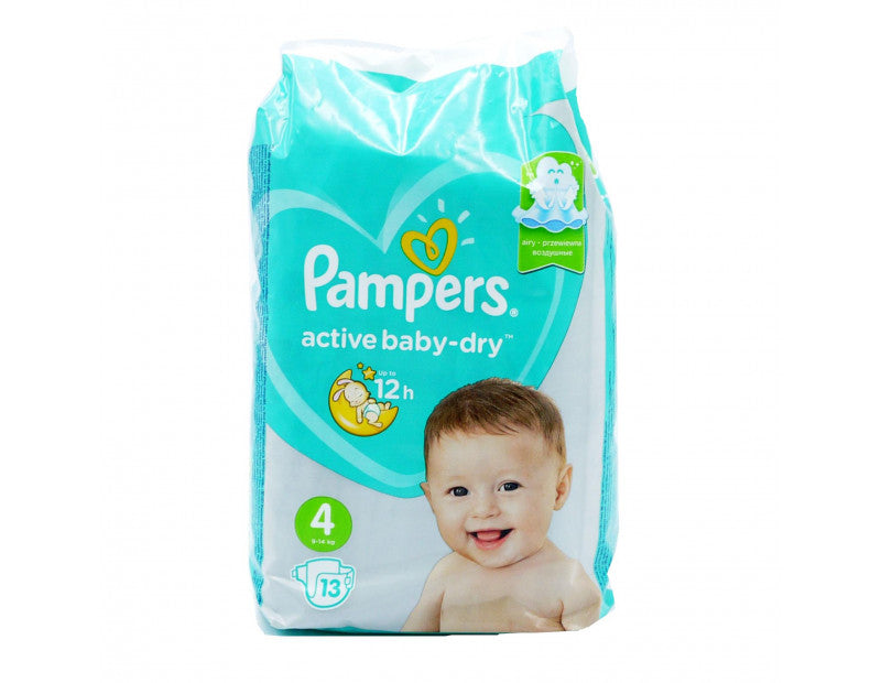 Pampers - Active Baby Dry Fit 4 Bleer
