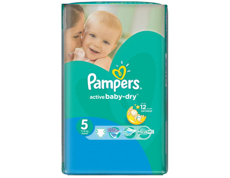 Pampers - Active Baby Dry Fit 5 Bleer