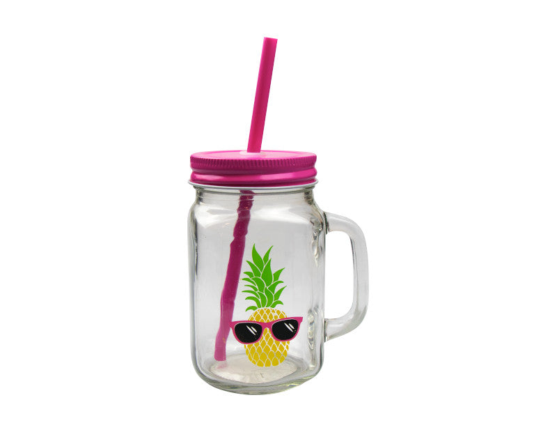 Summer Mason Drinking Jar With Handle