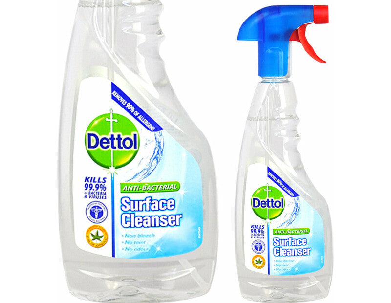 DETTOL - ANTI-BACTERIAL SURFACE CLEANER . KILLS 99.9% OF BACTERIA AND VIRUSES CONTAINS 440ML