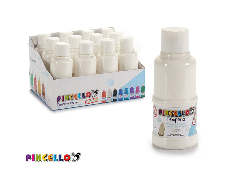 Poster paint pot 120 ml white