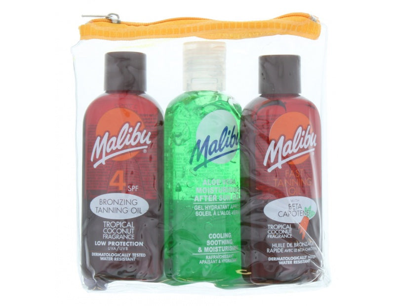 Malibu - Travel Sun Set Tanning Oil & Bronzing Oil & After Sun Gel