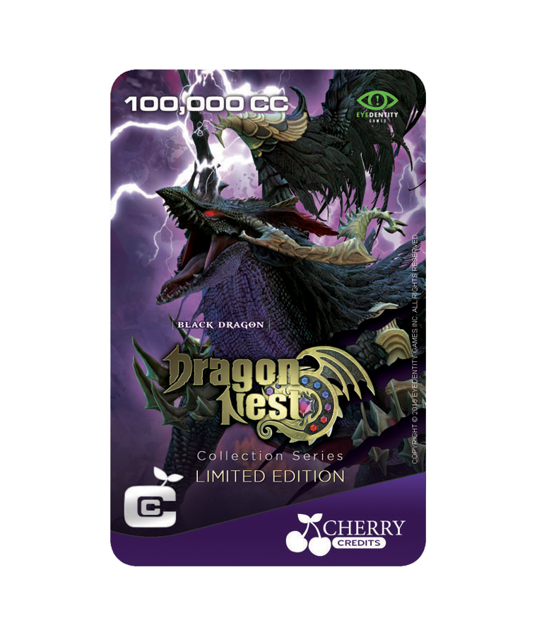 #025 | Limited Edition | Dragon Nest Special | Black Dragon | 100,000 CC