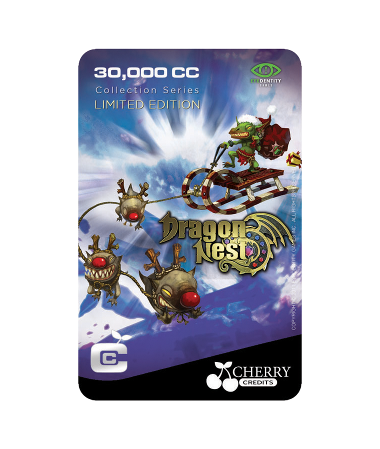 #017 | Limited Edition | Dragon Nest Special | X'mas Monster | 30,000 CC