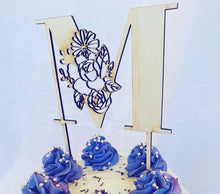 Load image into Gallery viewer, Floral Letter Cake Topper