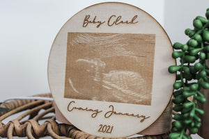 Etched Ultrasound Pregnancy Announcement