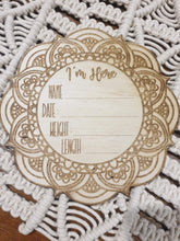 Load image into Gallery viewer, Mandala Newborn Plaque