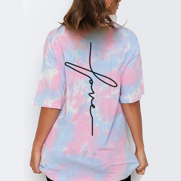 Tie Dye Oversized Dress Shirt