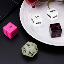 Load image into Gallery viewer, Funny Romantic Role Playing Dice Party Dice Game Dice,Novelty Gift for Hen Party, Honeymoon, bacherette Party,Him and Her, Bridal Shower, Groom Roast,Newlyweds, Wedding, Anniversary, Marriage