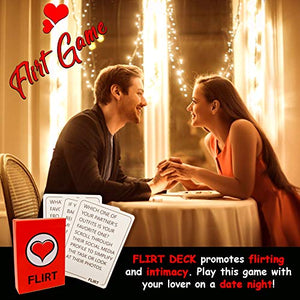 Fun and Romantic Game for Couples: Date Night Box Set with Conversation Starters, Flirty Games and Cool Dares - Choose from Talk, Flirt or Dare Cards for 3 Games in 1 - Lovely Gift!
