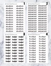 Load image into Gallery viewer, Breakfast | Script Stickers