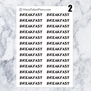 Breakfast | Script Stickers