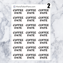 Load image into Gallery viewer, Coffee Date | Script Stickers