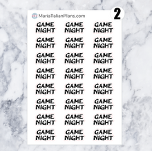 Load image into Gallery viewer, Game Night | Script Stickers