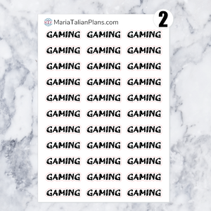 Gaming | Script Stickers