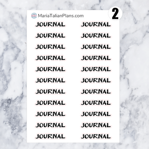 Journal | Script Stickers