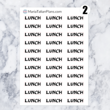 Load image into Gallery viewer, Lunch | Script Stickers