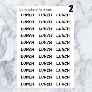 Lunch | Script Stickers