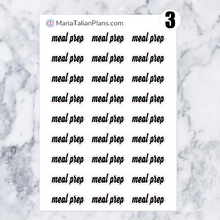 Load image into Gallery viewer, Meal Prep | Script Stickers