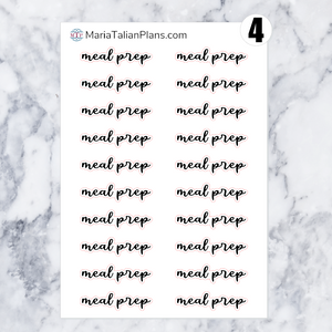 Meal Prep | Script Stickers