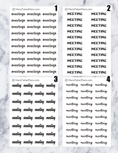 Meeting | Script Stickers
