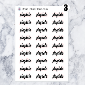 Playdate | Script Stickers