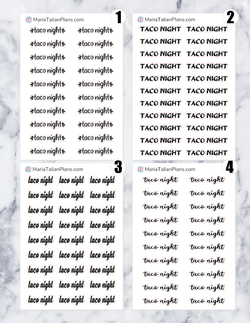 Taco Night | Script Stickers