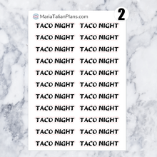 Load image into Gallery viewer, Taco Night | Script Stickers