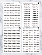 Load image into Gallery viewer, Therapy | Script Stickers