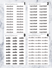 Load image into Gallery viewer, Vacation | Script Stickers